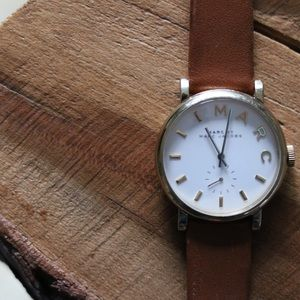 Marc by Marc Jacobs Baker White Dial Leather Watch